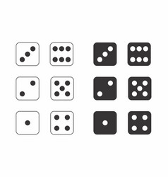 Dice black and white vector