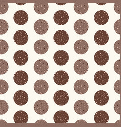 dotted circles stripes seamless pattern vector image