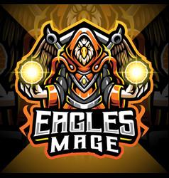 Eagles mage esport mascot logo vector