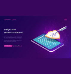 electronic signature business solution concept vector image