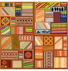ethnic patterns vector image