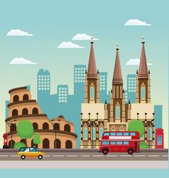 european beautiful cityscape vector image