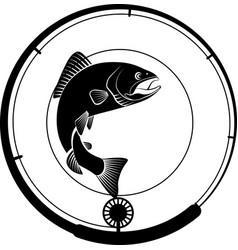 Fishing badge vector