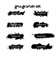 grunge ink splat brush vector image vector image