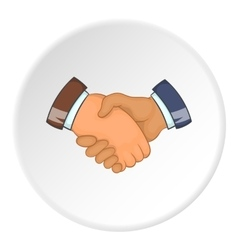 Handshake icon cartoon style vector