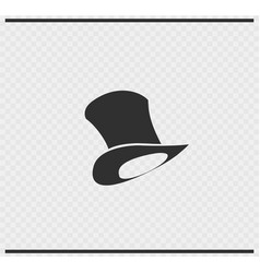 hat icon black color on transparent vector image