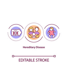 Hereditary disease concept icon vector