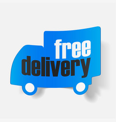 Icons shipments and free delivery vector