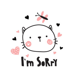 im sorry kitten vector image