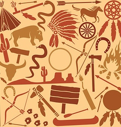 Indian icon pattern set vector