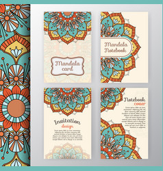 Intage invitation and background design vector