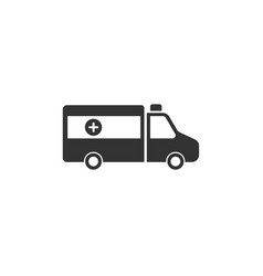 Isolated ambulance icon on a white background vector