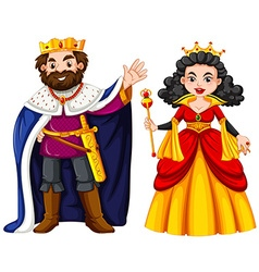 King and queen with happy face vector