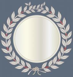 Laurel wreath in silver vector