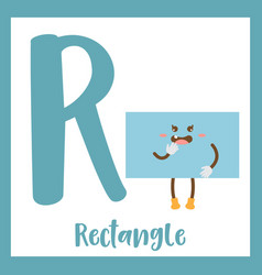Letter r vocabulary rectangle shape vector