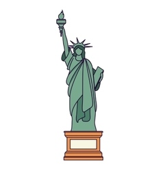 liberty statue isolated icon design vector image vector image