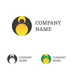 Logo template set flying bat logotype vector