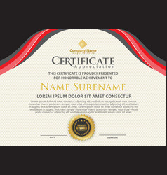 modern certificate template with flow lines vector image