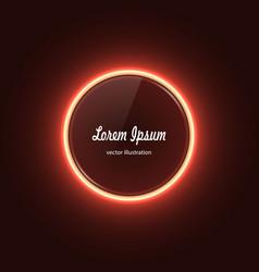 neeon circle banner vector image