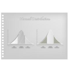 Paper art of standard deviation diagram graphs vector