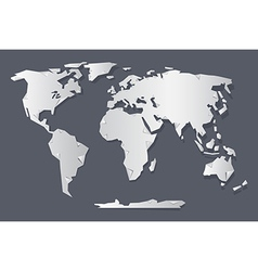 Paper World Map vector