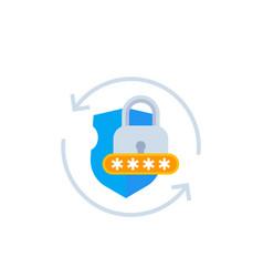 Password acces cybersecurity icon vector