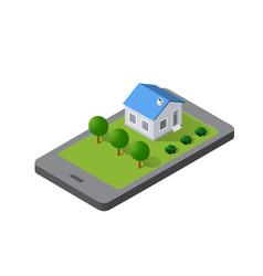 Phone concept module block city vector