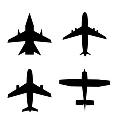plane icon jet in air airplane for travel cargo vector image