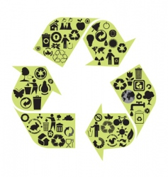 recycle diagram vector image