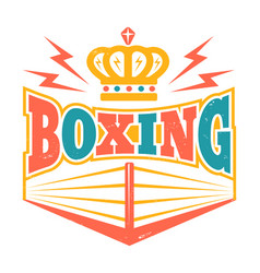 Retro emblem with boxing ring vector