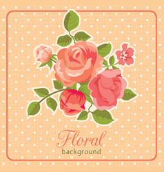 rose background floral card vector image