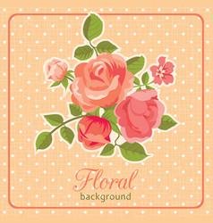 rose background floral card vector image