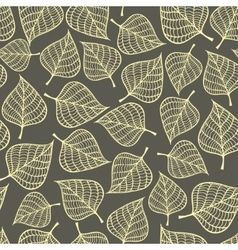 Seamless pattern with autumn leaves fall vector