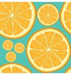 seamless pattern with hand drawn orange slices vector image