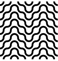 seamless striped wavy pattern simple vector image