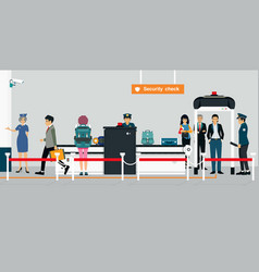 security check vector image