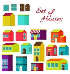 Set houses vector
