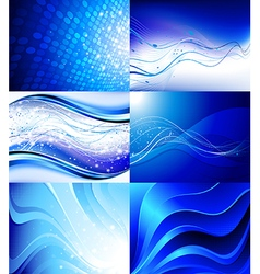 Set of futuristic backgrounds vector image