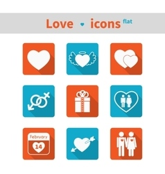 Set of icons on the theme of love and Valentines vector
