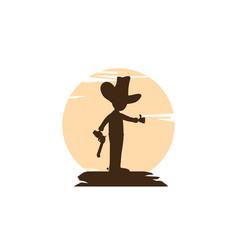 Sheriff silhouette art logo vector