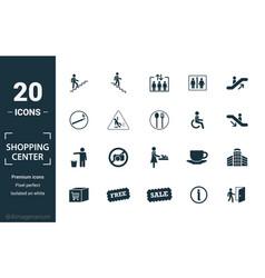 Shopping center icons icon set include creative vector