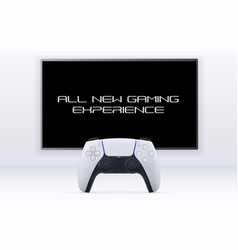 single player gaming concept realistic vector image