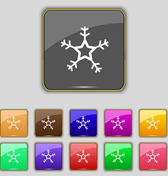 Snow icon sign Set with eleven colored buttons for vector