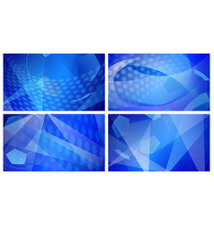 Soccer backgrounds in blue colors vector