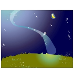 Starry Nights Lanscape vector