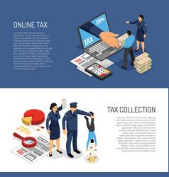 Tax inspectors banners vector