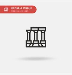 Temple apollo simple icon vector