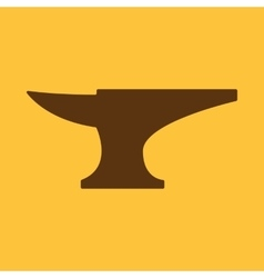 The anvil icon smith and forge blacksmith symbol vector
