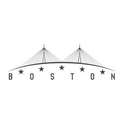 The Leonard P Zakim Bunker Hill Memorial Bridge vector