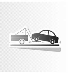 tow truck sign new year blackish icon on vector image